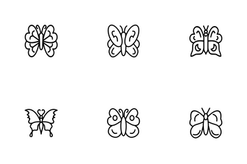 Butterfly Line P1s1 Icon Pack