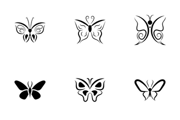 Butterfly Symbols Icon Pack