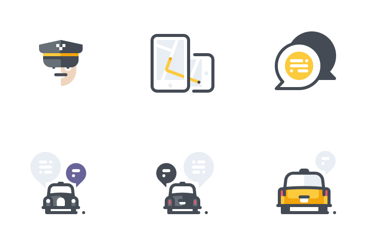 Cab Service Icon Pack
