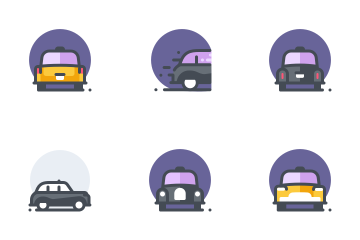 Cab Services Icon Pack