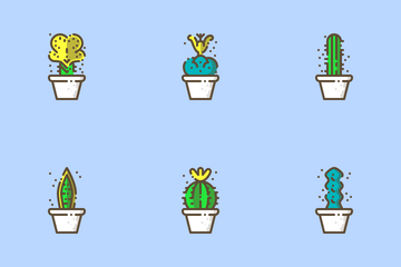 Cactus And Succulent Icon Pack