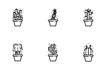Cactus And Succulents Icon Pack
