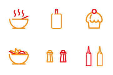 Cafe And Streetfood Icon Pack