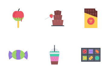 Cafe Flat Icon Pack