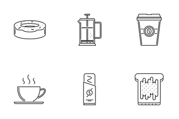Cafe Outline Icon Pack