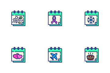 Calendar And Date Event Moment Icon Pack