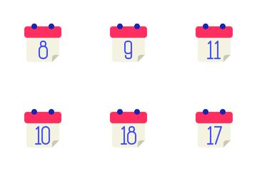 Calendar Flat Icon Pack