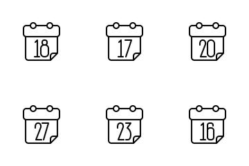 Calendar Outline Icon Pack