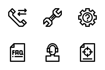 Call Center Service Icon Pack