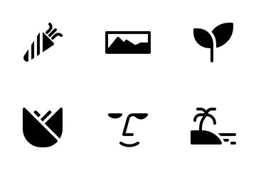 Camera Scene Mode Glyph Icon Pack