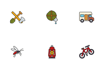 Camping And Outdoors Icon Pack