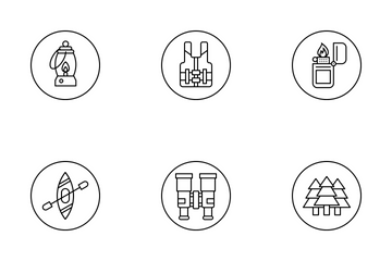 Camping & Adventure Icon Pack