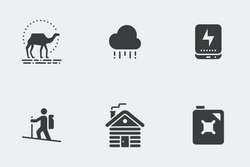Camping, Adventure And Outdoors Icon Pack