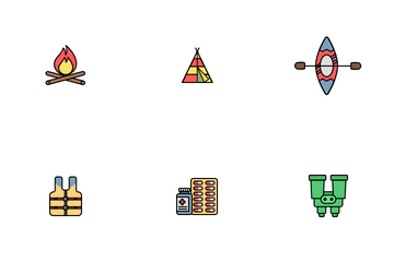 Camping And Adventure Icon Pack