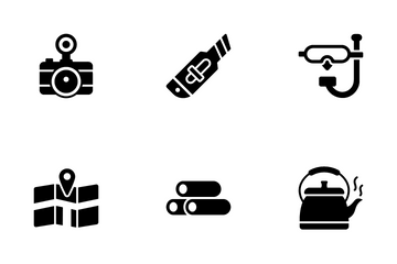 Camping And Hiking Icon Pack