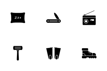 Camping And Outdoor Icon Pack