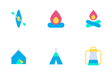 Camping - Flat Icon Pack