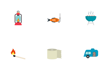 Camping Flat Icon Pack
