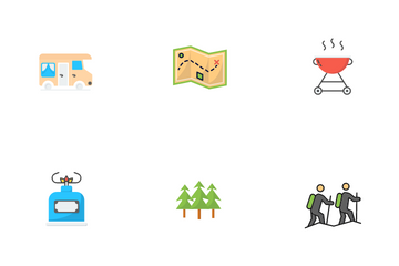 Camping & Hiking Icon Pack