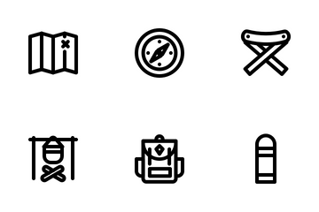 Camping & Holiday (Line) Icon Pack