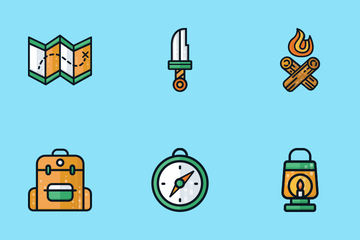 Camping Icons Icon Pack