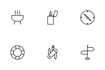 Camping Line Icon Pack