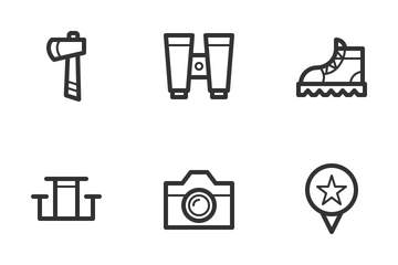 Camping & Outdoor Icon Pack