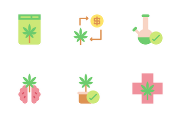 Cannabis And Medical Icon Pack