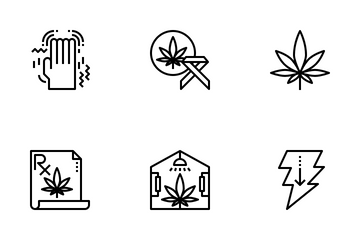 Cannabis Drugs Outline Icon Pack