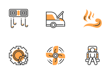 Car Accessories Icon Pack