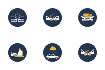 Car Accident Icon Pack