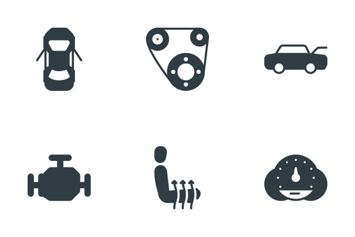 Car & Components Icon Pack