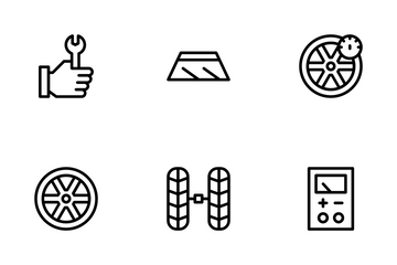 Car Garage Icon Pack