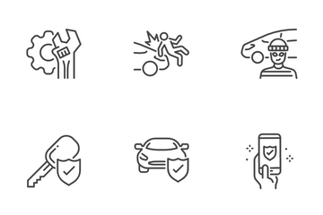 Car Insurance Icon Pack