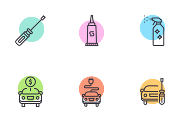 Car Maintenance And Service Icon Pack