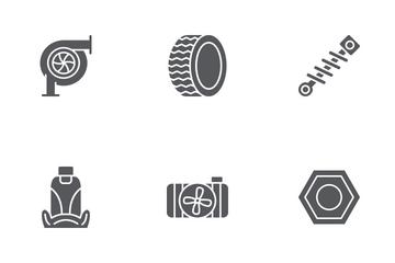 Car Parts Icon Pack