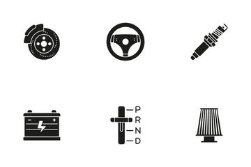 Car Parts And Services Icon Pack