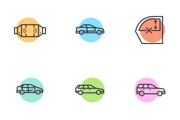 Car Parts And Accessories Icon Pack