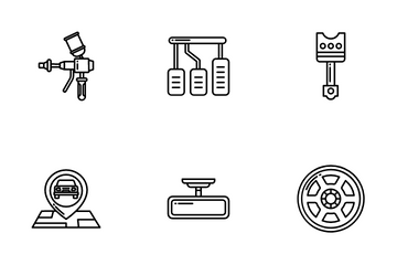Car Parts And Service Icon Pack