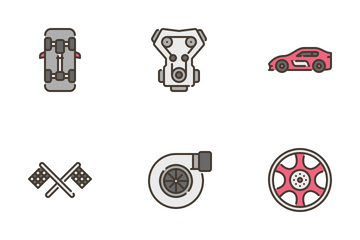 Car Racing Icon Pack