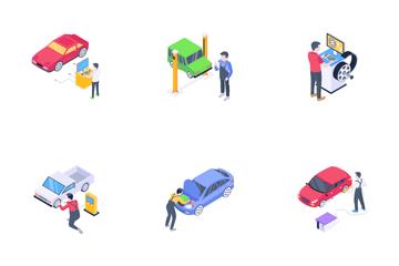 Car Repair Services Icon Pack