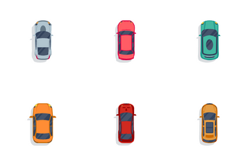 Car's Bird View Icon Pack