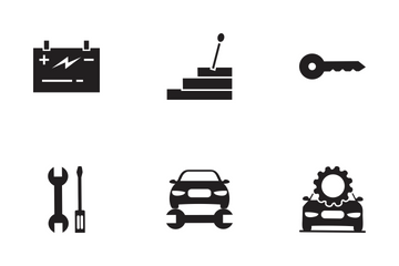 Car Service Glyph Icon Pack