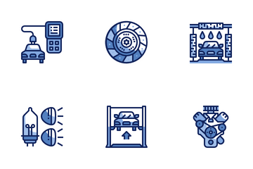 Car Service Maintenance Icon Pack