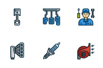 Car Service Maintenance Icon Pack
