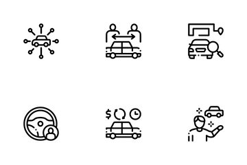 Car Sharing Business Icon Pack