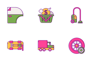 Car Wash Icon Pack