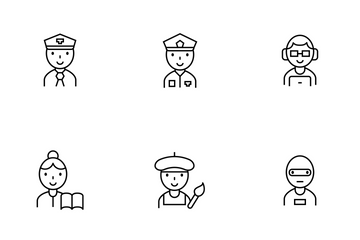 Career Thinline Icon Pack