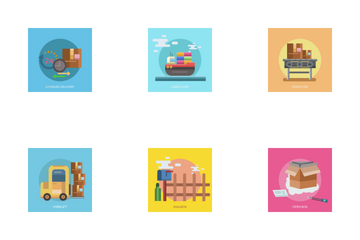 Cargo And Delivery Icon Pack