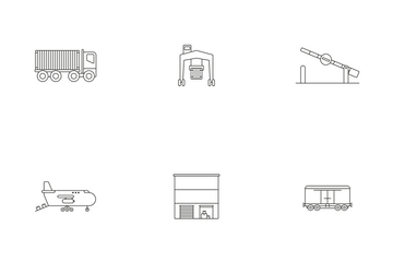 Cargo And Logistics Icon Pack